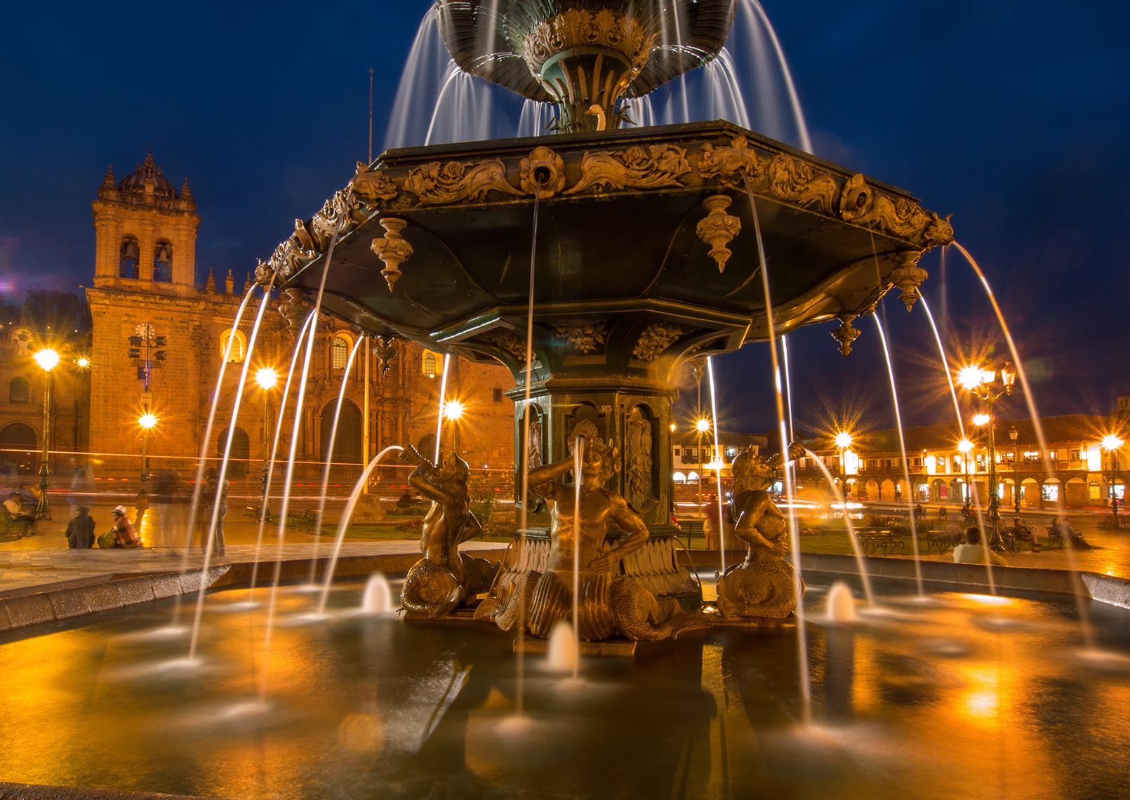 Fountain in Plaza de Armas