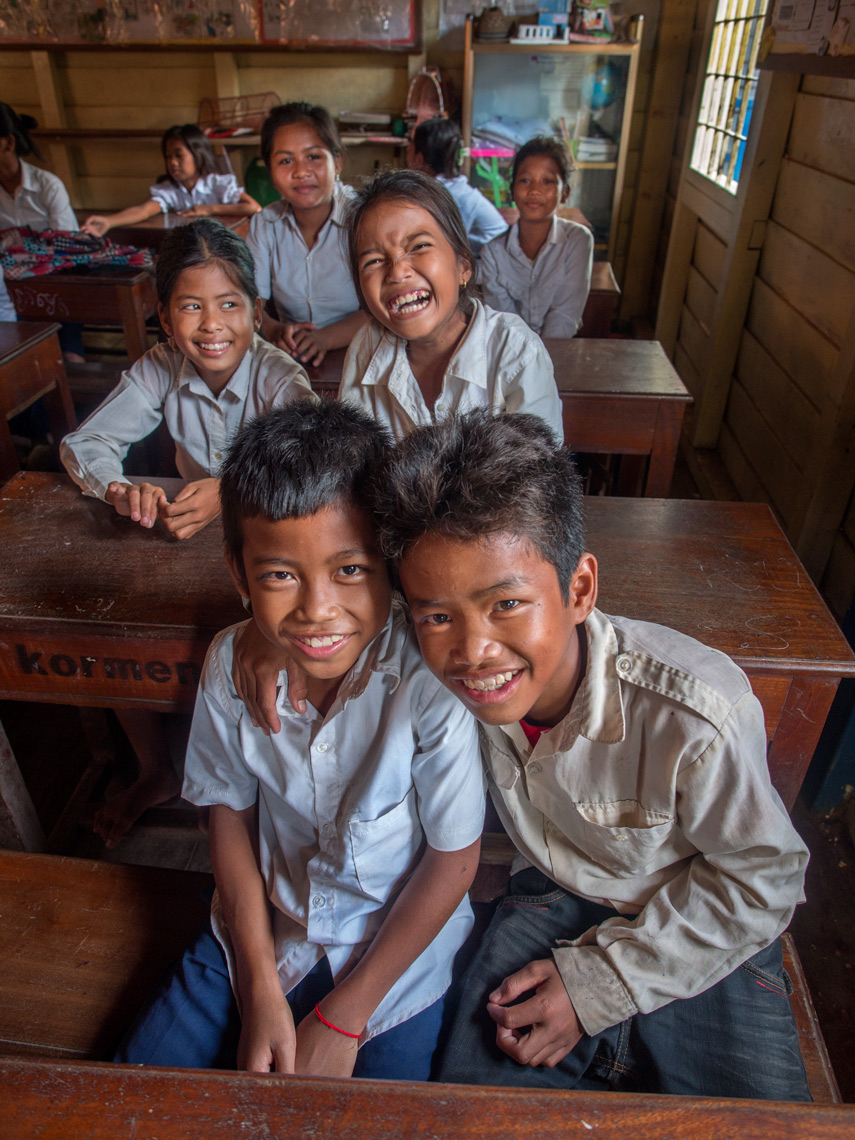 Cambodian school kids