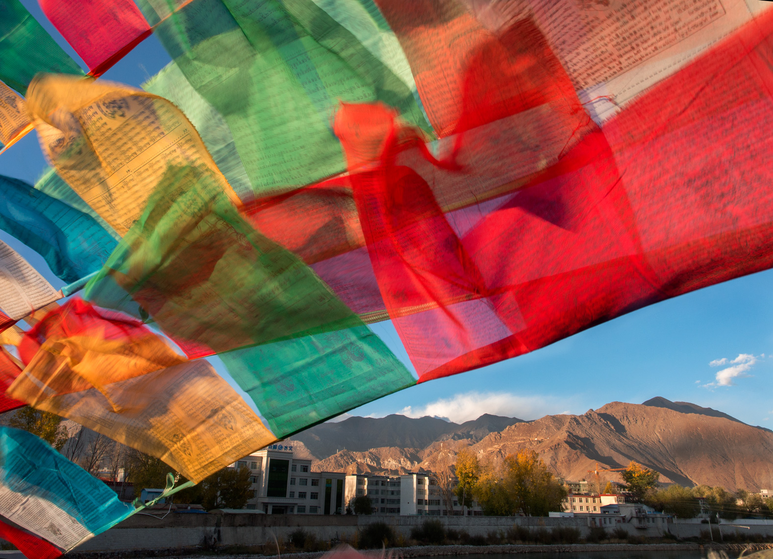 Lhasa, Tibet prayer flags