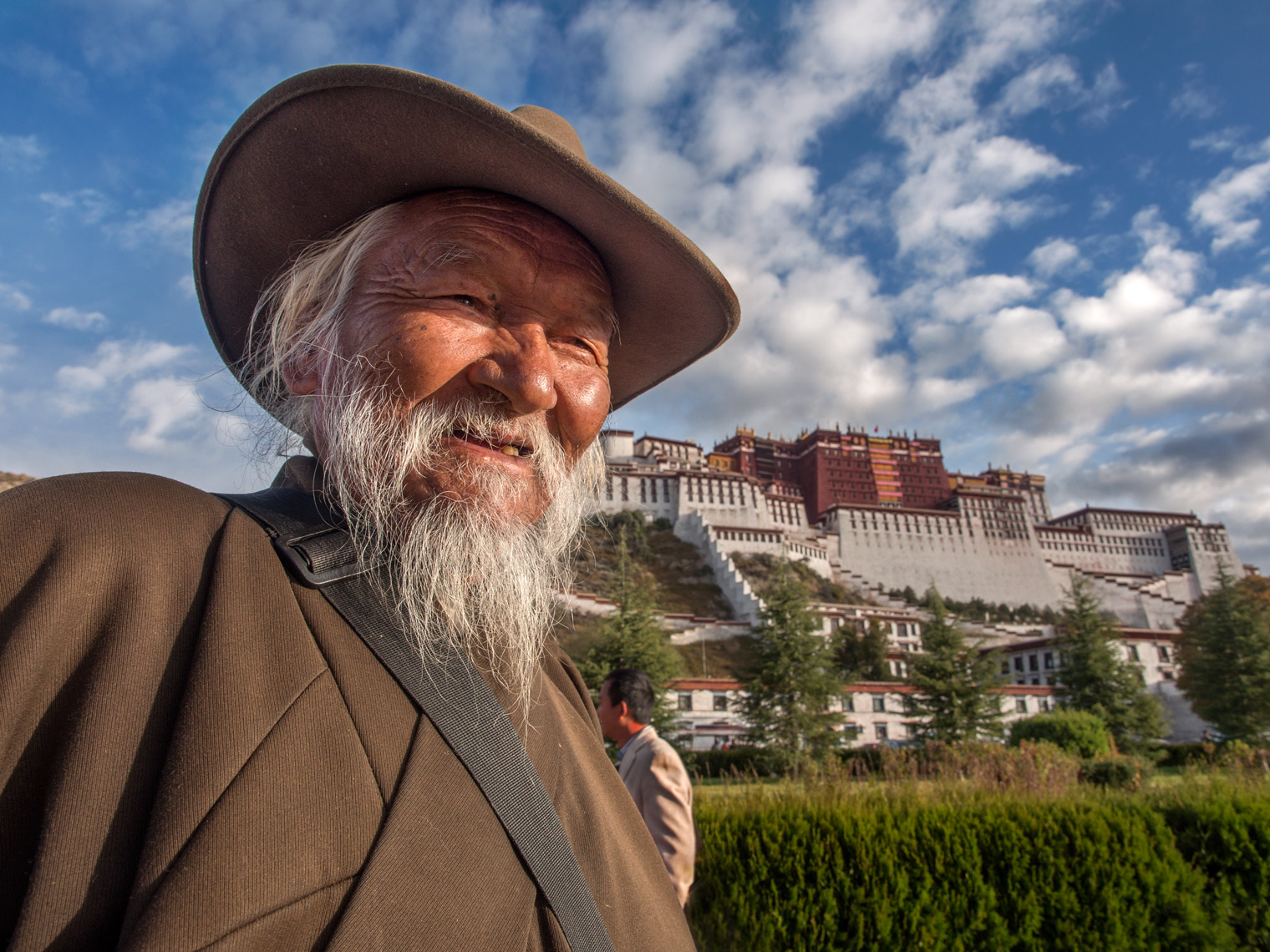 Pilgrim at Potala Palace