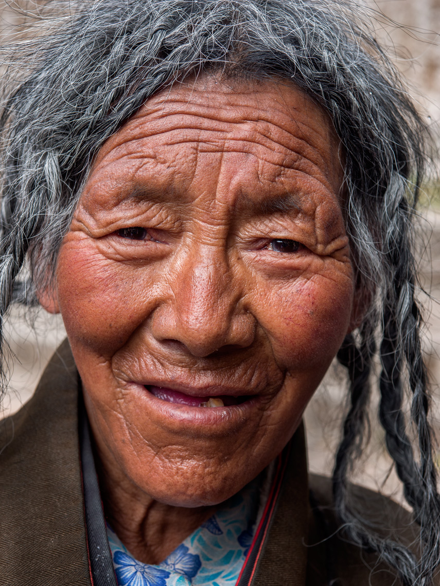 Tibetan small village woman