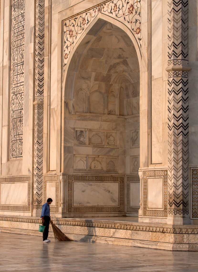 Taj Mahal cleaner