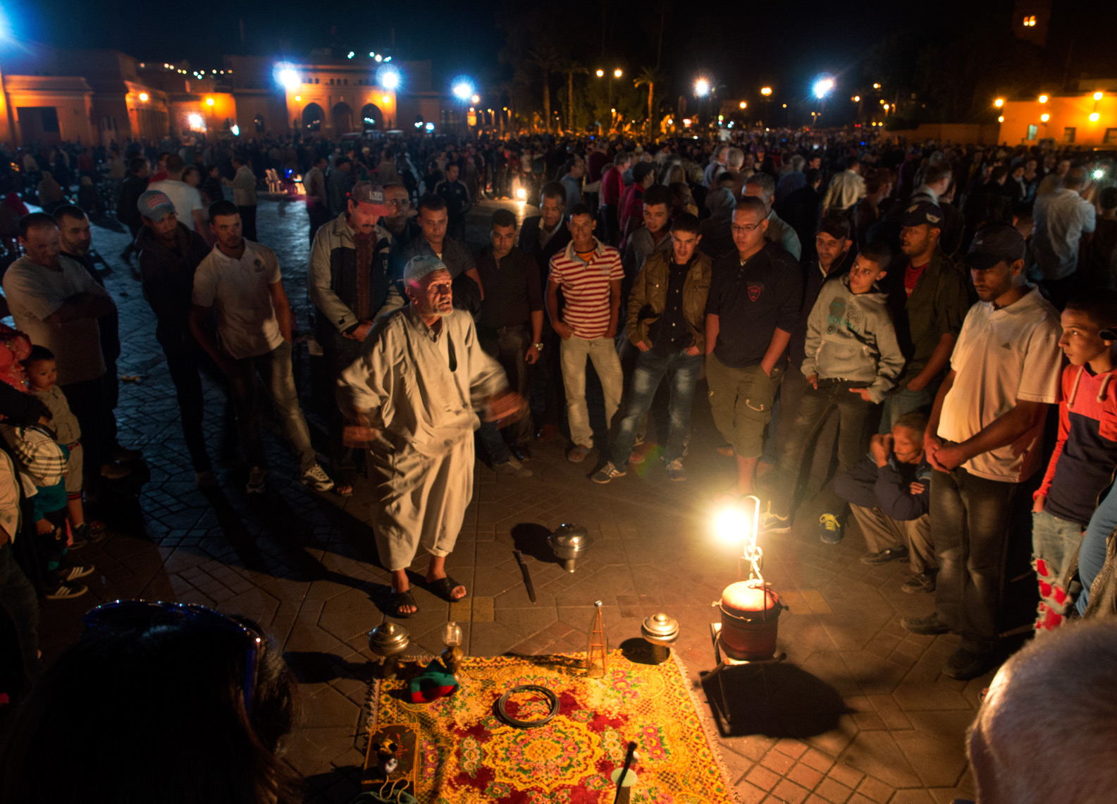 Story teller in Marrakesh