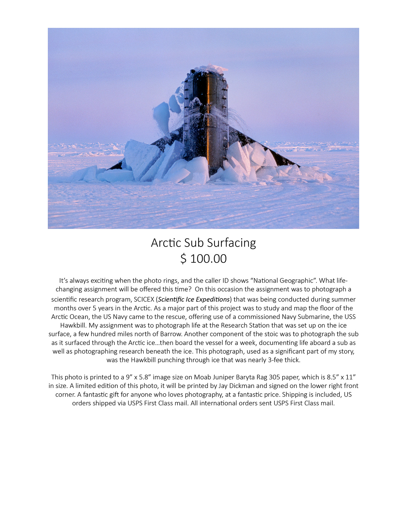 Arctic Sub Surfacing